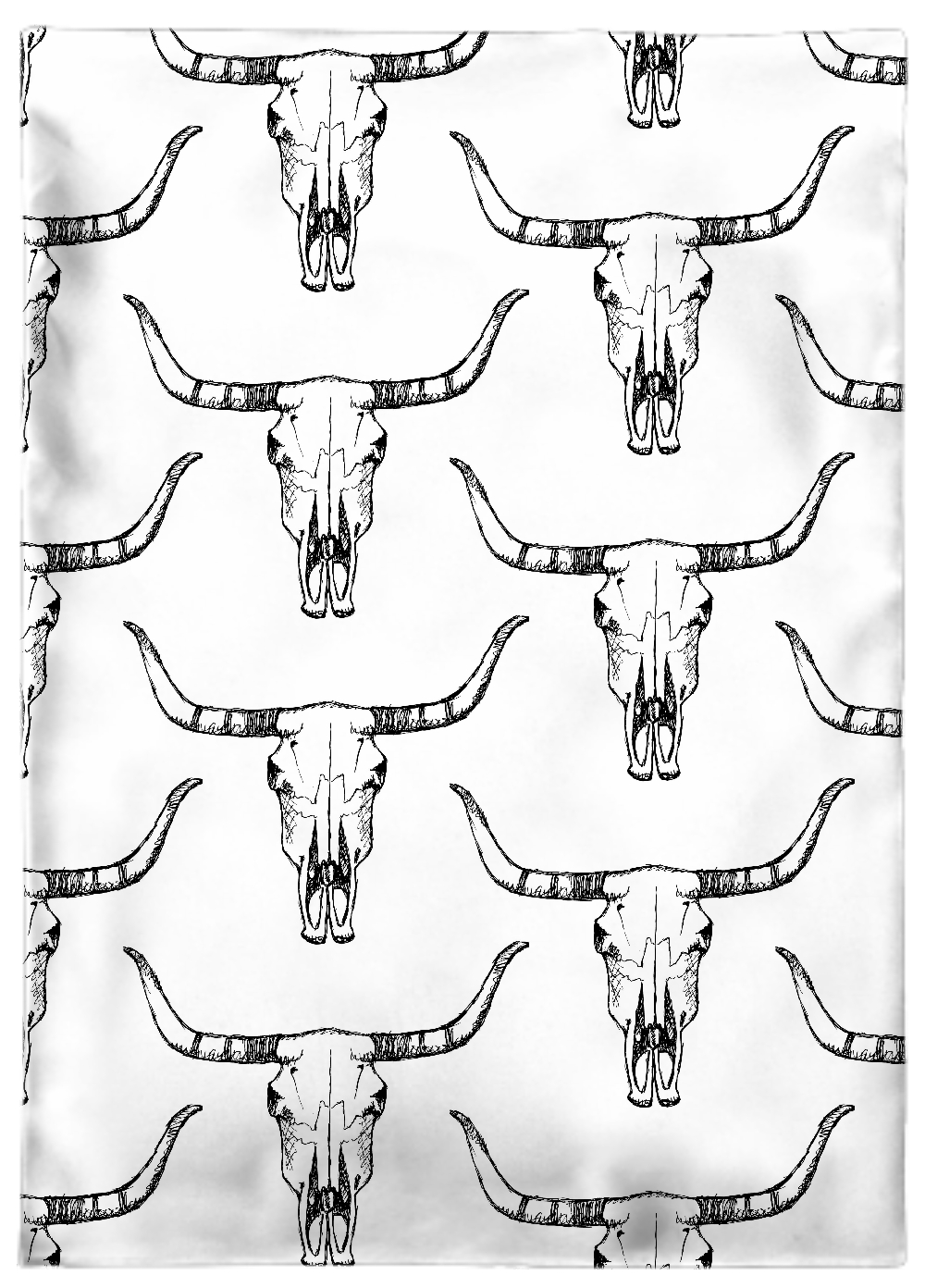 Tea Towel, Animal skull (Organic Cotton Poplin White GOTS) - Elobina ...